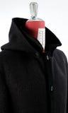 羊毛黑外套 库存照片