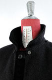 羊毛黑外套 免版税图库摄影