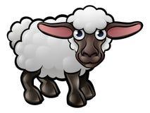 绵羊牲口漫画人物 库存照片