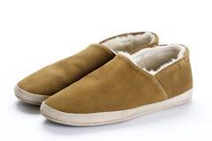 羊皮拖鞋 免版税库存图片