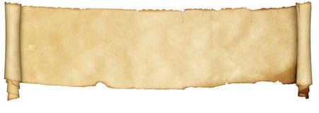 羊皮纸中世纪纸卷  免版税库存照片
