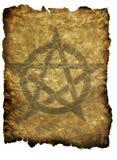 羊皮纸五角星形 库存照片