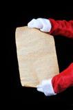 羊皮纸圣诞老人 库存照片