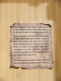 羊皮纸法律展览在城市博物馆在兰卡斯特英国在城市的中心 图库摄影