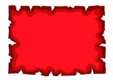 羊皮纸老纸空白文件红色 免版税库存照片