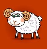 羊羔一点 皇族释放例证