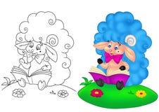 羊羔婴孩动画片 免版税库存图片