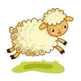 羊羔戏剧在草甸 皇族释放例证