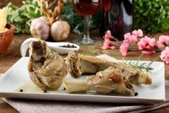 羊羔炖煮的食物用迷迭香 图库摄影