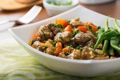 羊羔炖煮的食物 库存图片