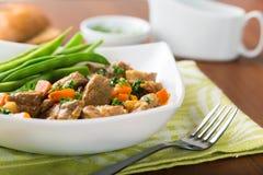 羊羔炖煮的食物 图库摄影