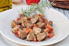 羊羔炖煮的食物 免版税库存图片
