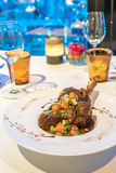 羊羔炖煮的食物 免版税图库摄影