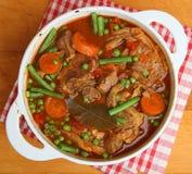 羊羔炖煮的食物Navarin  免版税库存照片