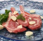 羊羔的新鲜的肉 库存图片
