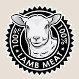 羊羔肉100% 库存照片