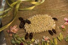 羊羔 刺绣丝带 免版税库存图片