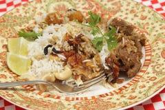 羊羔biryani晚餐 库存图片