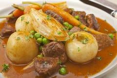 羊羔navarin炖煮的食物 免版税库存照片