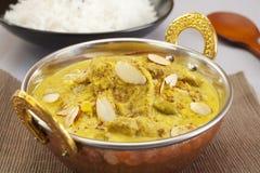 羊羔Pasanda印第安咖喱食物膳食烹调 库存照片