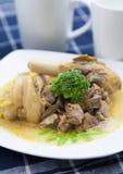 羊肉咖喱 图库摄影