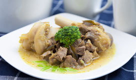 羊肉咖喱 库存图片