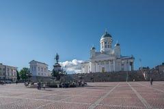 美丽和历史上重大赫尔辛基大教堂 库存照片