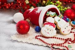 美丽和可口圣诞节曲奇饼 免版税库存图片