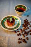 美丽和开胃艺术性的甜点 免版税库存图片