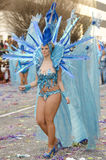 美丽和性感的妇女桑巴舞蹈家 免版税库存照片