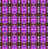 美丽在无缝的盛开的紫色兰花花 库存例证