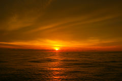 美丽在海运日落 免版税库存图片