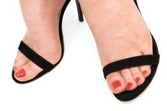 美丽在鞋子结算 免版税图库摄影