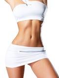美丽女性减肥被晒黑的身体 库存图片