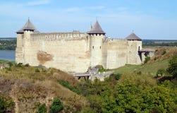 美丽如画的中世纪堡垒在霍京,乌克兰 图库摄影