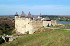 美丽如画的中世纪堡垒在霍京 免版税库存图片