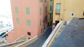 美丽如画的台阶在芒通法国耶路撒冷旧城  股票视频