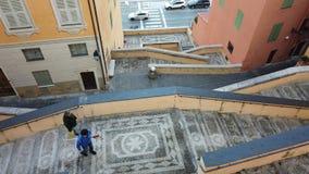 美丽如画的台阶在芒通法国耶路撒冷旧城  股票录像