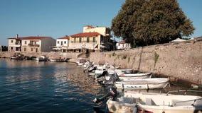 美丽如画的威尼斯式港口, Nafpaktos,希腊 影视素材