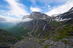 美丽如画的挪威横向。 库存图片