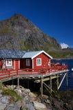 美丽如画的捕鱼小屋 库存照片