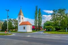 美丽如画的教堂在Krizevci,克罗地亚 库存照片