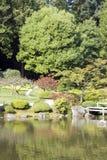 美丽如画的日本庭院 免版税库存图片
