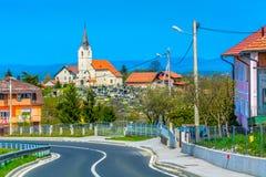 美丽如画的村庄在Zagorje地区,北克罗地亚 库存图片