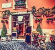 美丽如画的果子商店在罗马 图库摄影