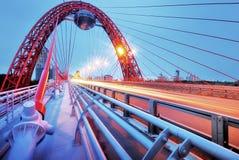 美丽如画的桥梁。 莫斯科。 免版税库存照片