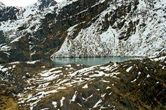 美丽如画的湖在喜马拉雅山 库存照片