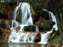 美丽如画的瀑布 库存照片