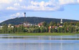 美丽如画的芬兰城镇 免版税库存照片