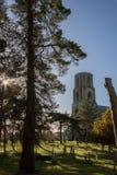 美丽如画的英国国家墓地公墓 Wymondham修道院 库存图片